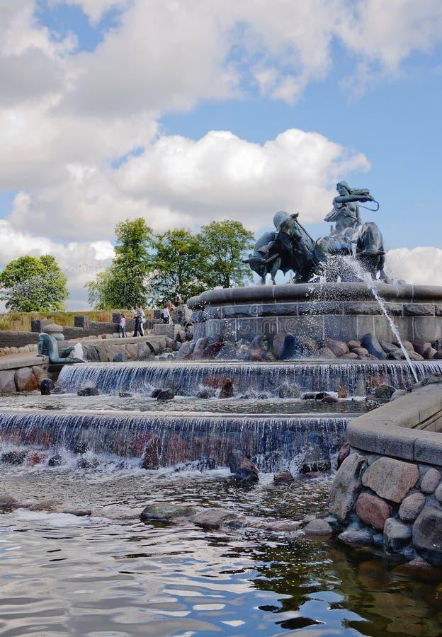 Kopenhagen, Dänemark, Gefion Fountain lizenzfreie stockfotos
