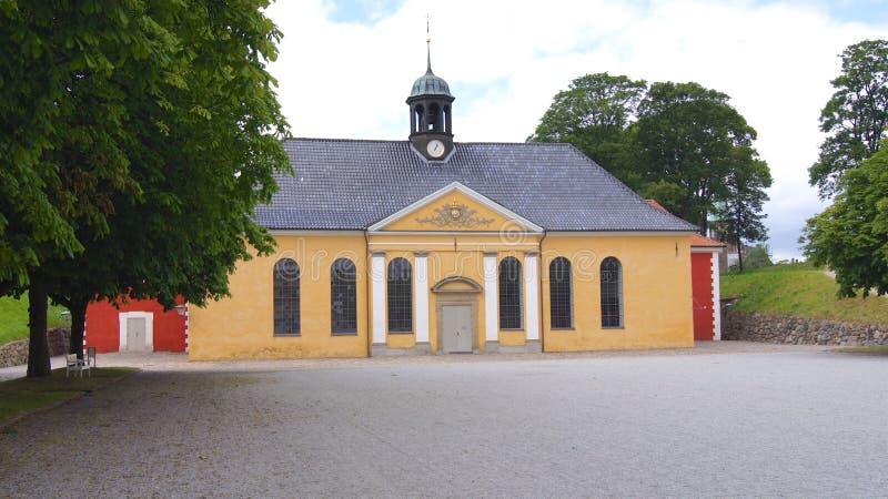 KOPENHAGEN, DÄNEMARK - 06. JUL, 2015: Der Kastelskirken, die Kirche am Kastellet, die Zitadelle von Kopenhagen lizenzfreie stockfotografie