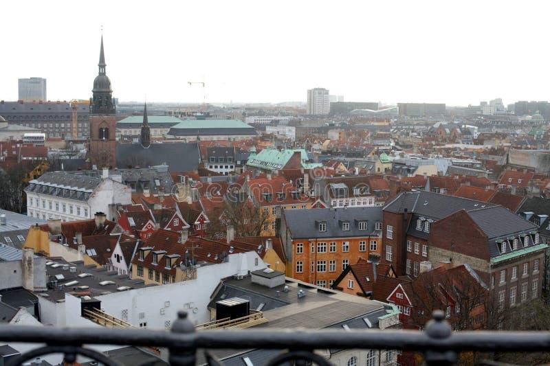 Kopenhagen, Dänemark von oben lizenzfreies stockfoto
