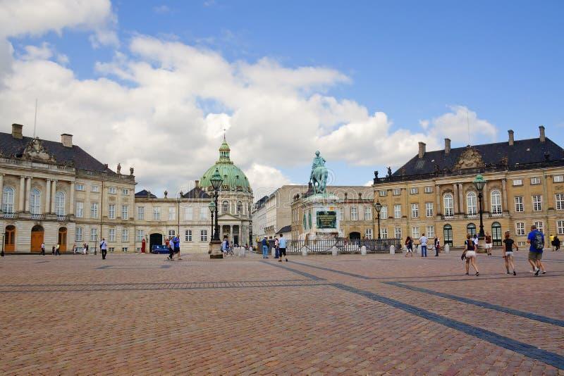Kopenhagen, Denemarken, Amalienborg-Paleis royalty-vrije stock foto