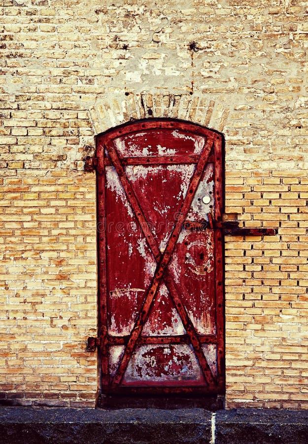 Kopenhagen, Denemarken - het antieke dok van de baksteenopslag in Christiansha stock fotografie