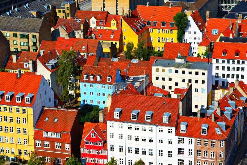 Kopenhagen-Gebäude stockfotos