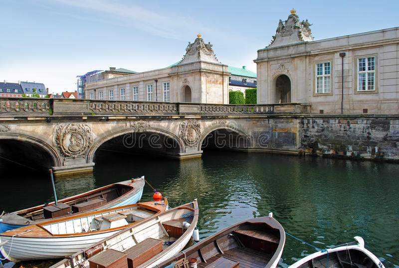 Kopenhagen-Kanal stockbilder