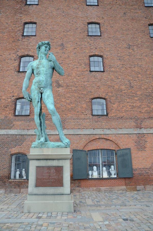 Kopenhagen Michelangelos David royalty-vrije stock foto's