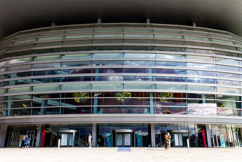 Kopenhagen-Opernhausglas 2014 lizenzfreie stockfotografie