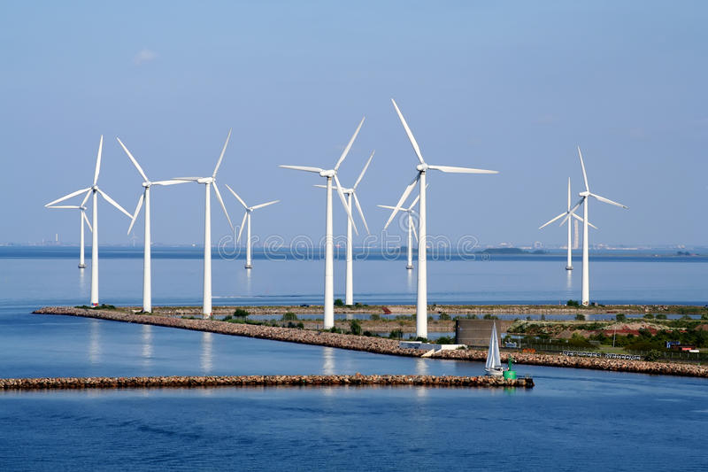 Kopenhagen-Wind-Bauernhof lizenzfreie stockfotos