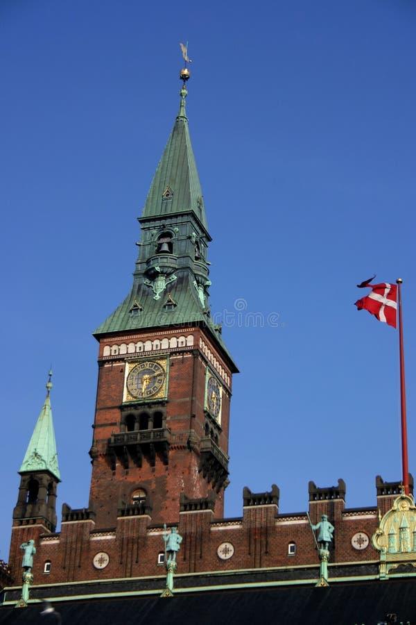 KopenhagenRathaus stockfotos