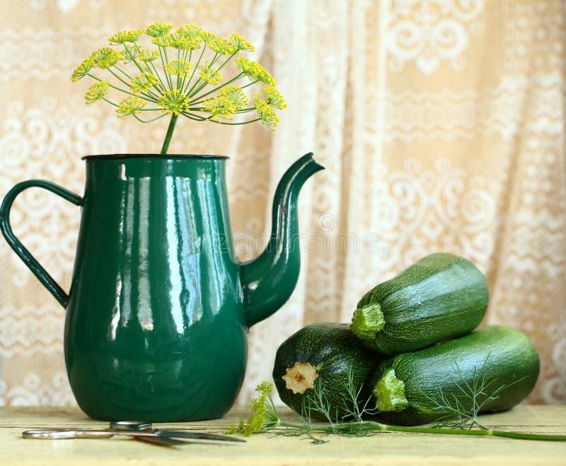 Koper i zucchini zdjęcia royalty free