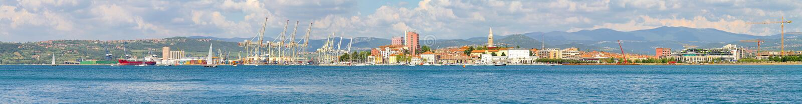 Koper panorama royalty free stock photos