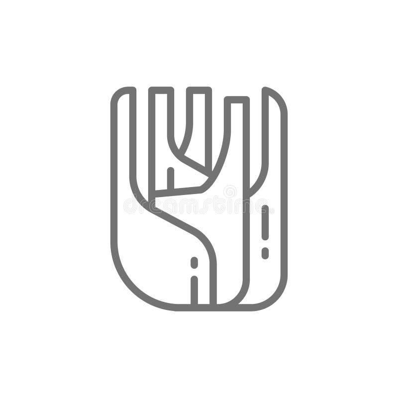 Koper, pikantność, ziele kreskowa ikona royalty ilustracja