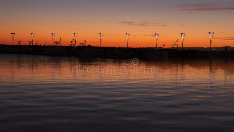 Koper's sunset stock photography