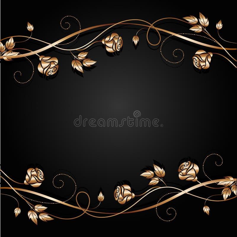 Koperbloemen met schaduw op donkere achtergrond royalty-vrije illustratie