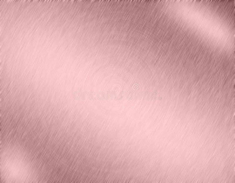 Kopermetaal geborstelde achtergrond royalty-vrije illustratie