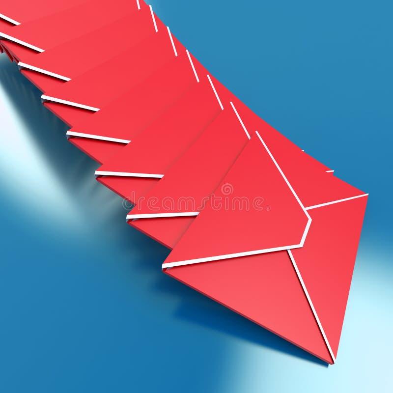 Kopert przedstawień opancerzania technologii Na całym świecie Inbox falcówka royalty ilustracja