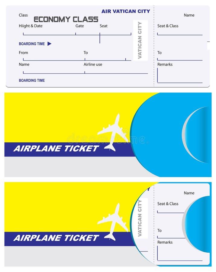 Koperta dla bileta na watykanu samolocie fotografia stock