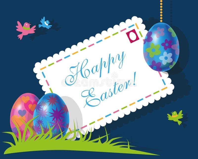 Koperta i jajka Wielkanocni ilustracja wektor