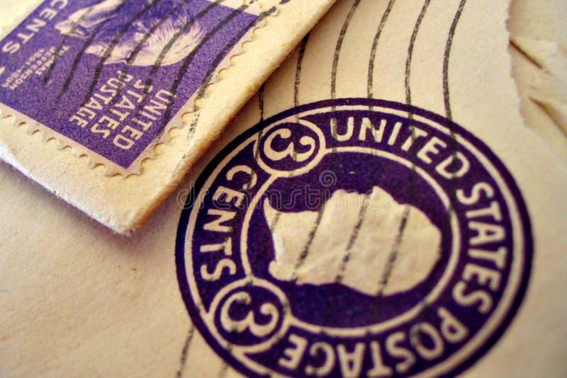 koperta znaczków roczne zdjęcie royalty free