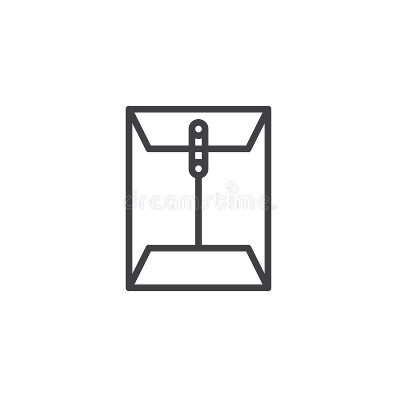 Kopertowa emaila doczepiania linii ikona ilustracji