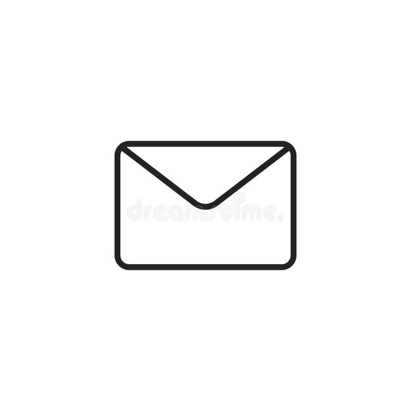 Kopertowego konturu Wektorowa ikona, symbol lub logo, royalty ilustracja