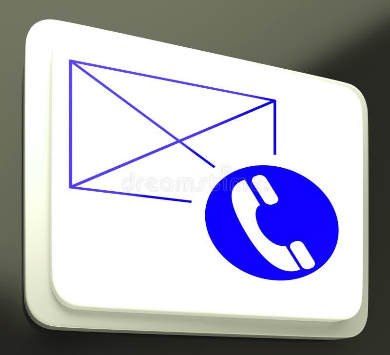Kopertowego telefonu Szyldowego seansu Komunikacyjni środki royalty ilustracja
