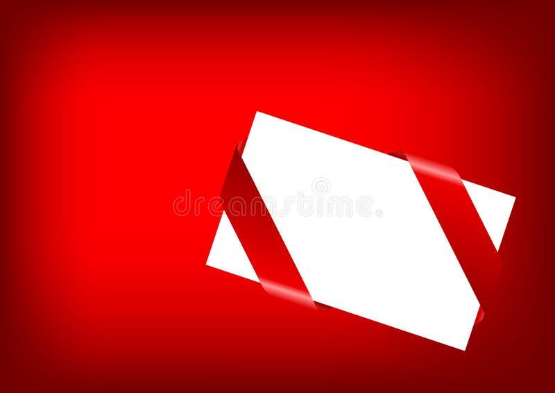 kopertowy czerwony tasiemkowy biel royalty ilustracja