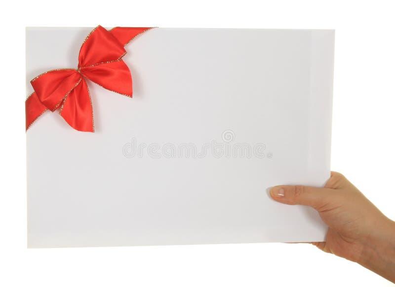 kopertowy ręki czerwieni faborek obraz stock