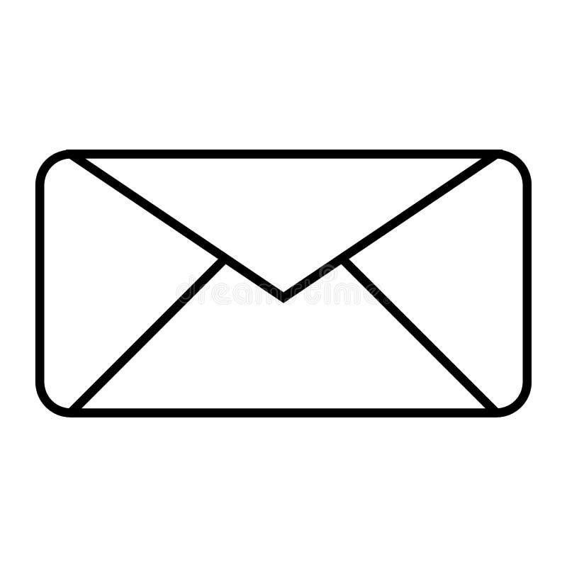 Koperty cienka kreskowa ikona Listowa wektorowa ilustracja odizolowywająca na bielu Emaila konturu stylu projekt, projektujący dl ilustracja wektor