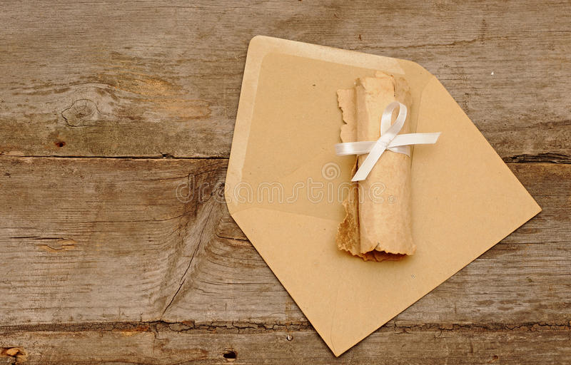koperty rolka stara papierowa zdjęcie royalty free