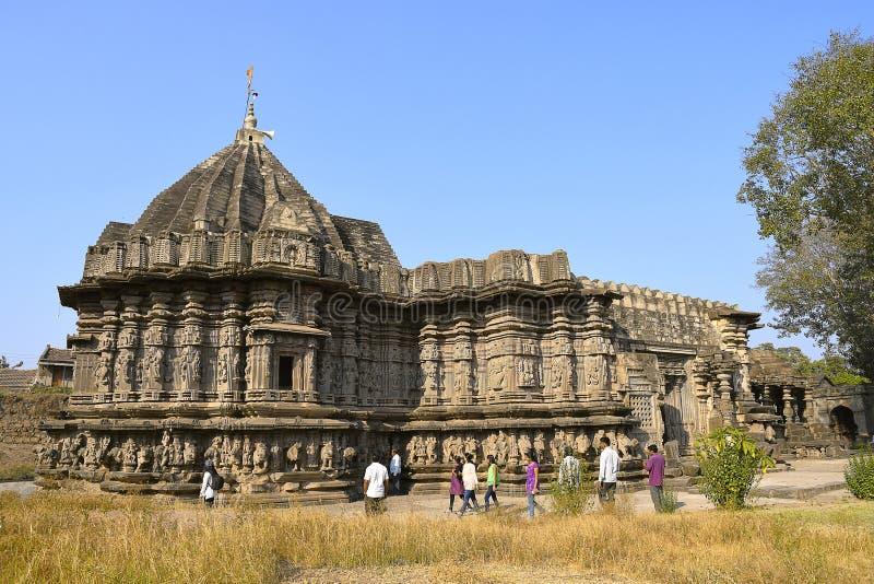 Kopeshwartempel Linkerkantmening Khidrapur, Kolhapur, Maharashtra, India royalty-vrije stock afbeelding