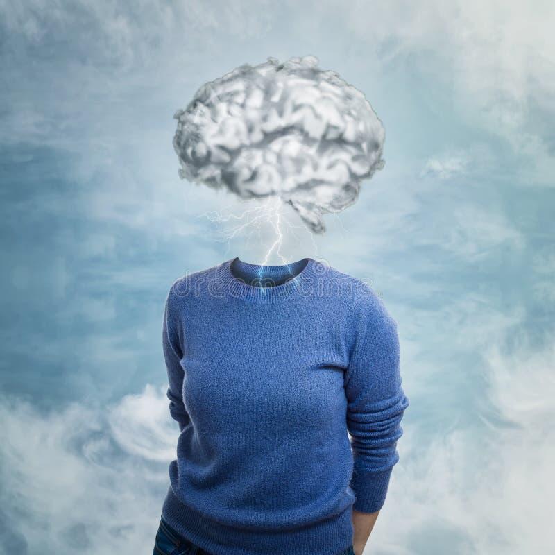 Kopf in den Wolken lizenzfreie stockbilder