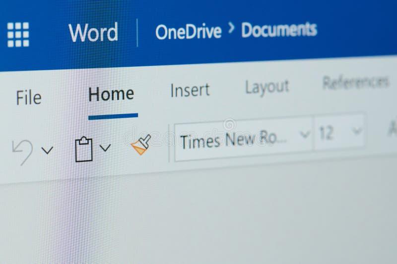 Kopf des Microsoft Word lizenzfreie stockfotografie