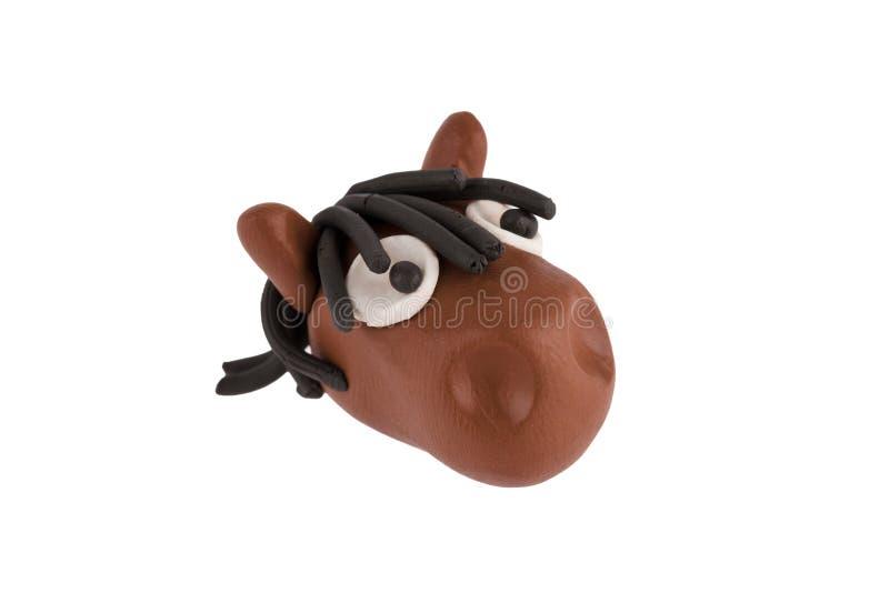 Kopf des Pferds hergestellt vom Plasticine lizenzfreie stockfotos