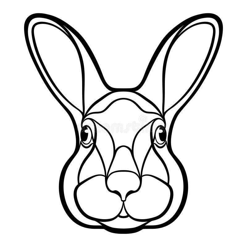 Kopf Eines Kaninchens, Hasefarbton Stock Abbildung - Illustration ...