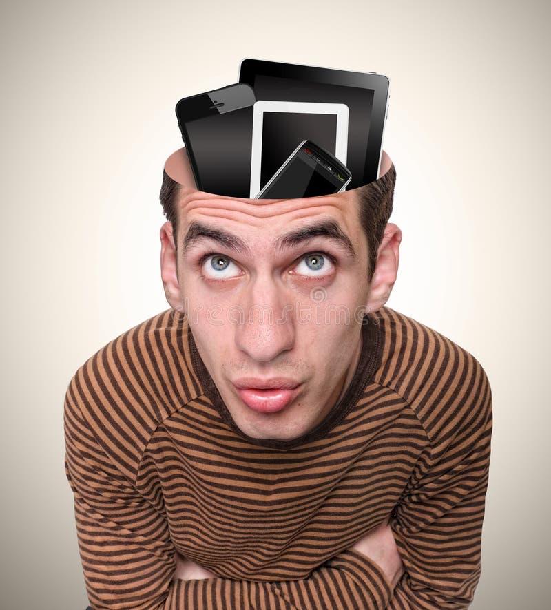 Kopf eines Mannes und seines Verstandes. lizenzfreie abbildung