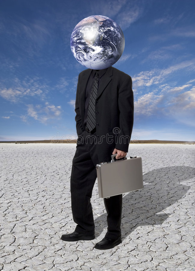 Kopf für globale Geschäftsinteressen stockfotos
