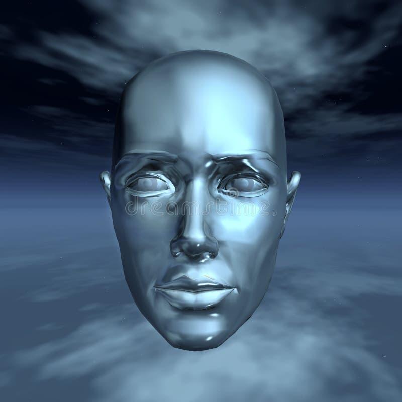 Kopf im Universum lizenzfreie abbildung