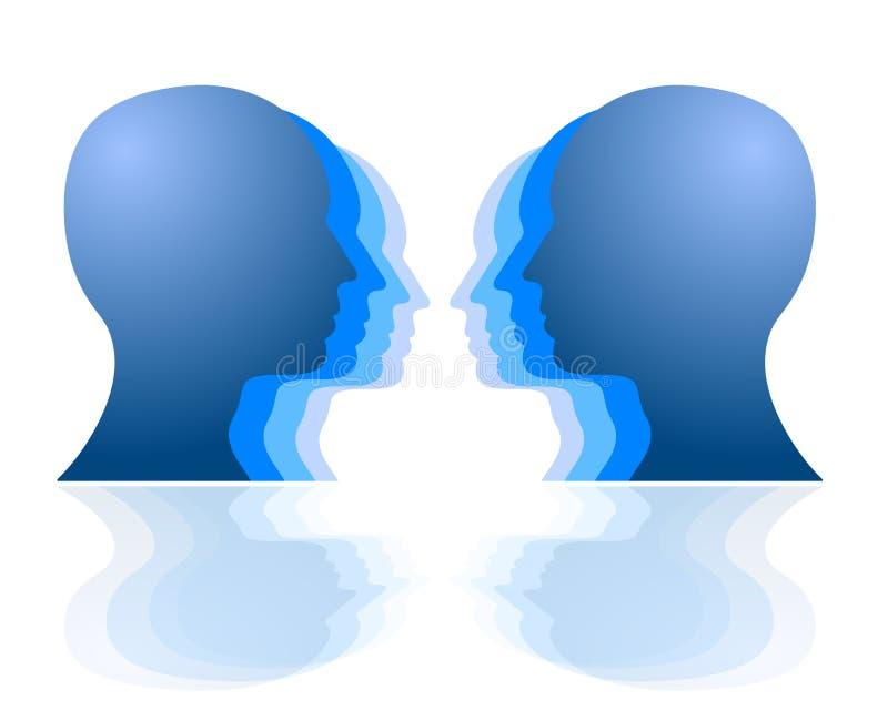 Kopf-an-Kopf- Herausforderung vektor abbildung