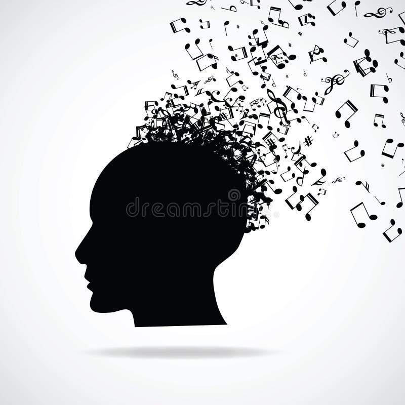 Kopf mit Explosionseffekt lizenzfreie abbildung