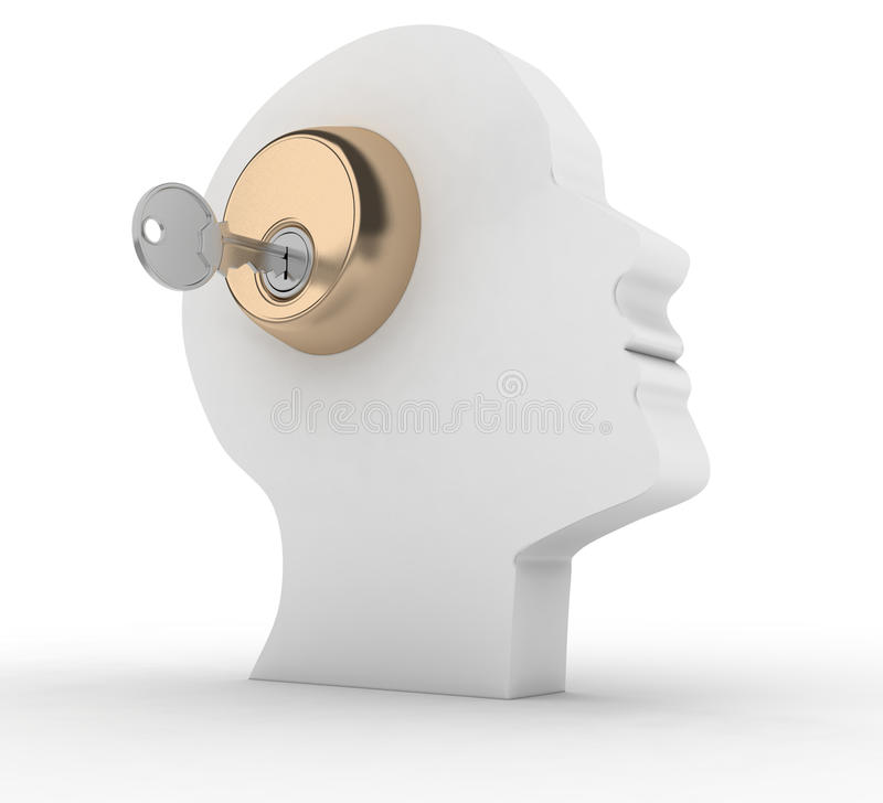 Kopf mit Taste vektor abbildung
