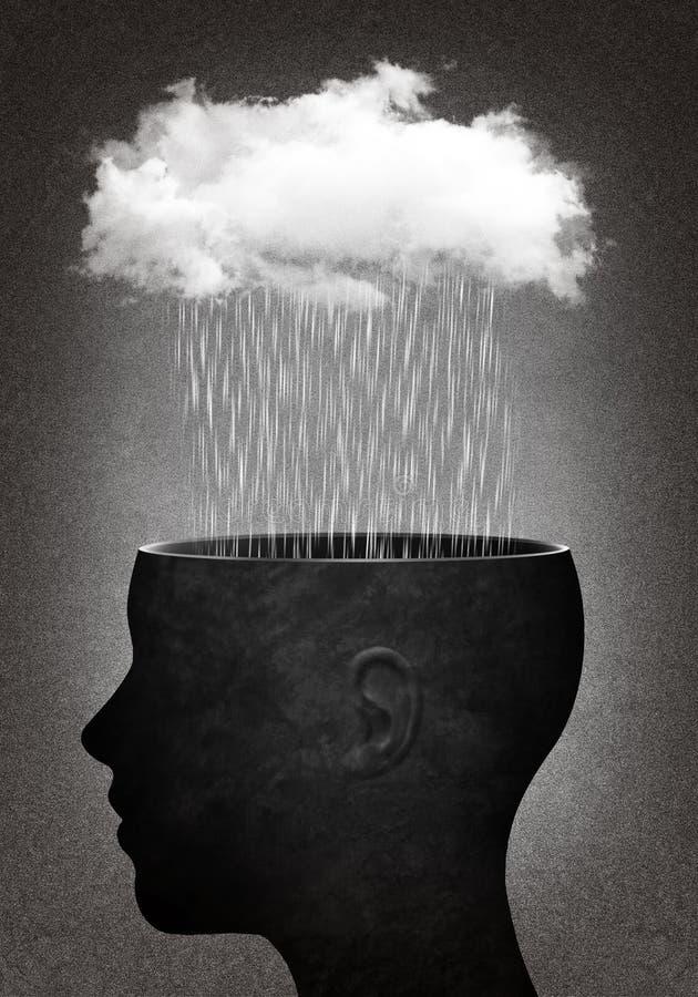Kopf mit Wolke lizenzfreies stockbild