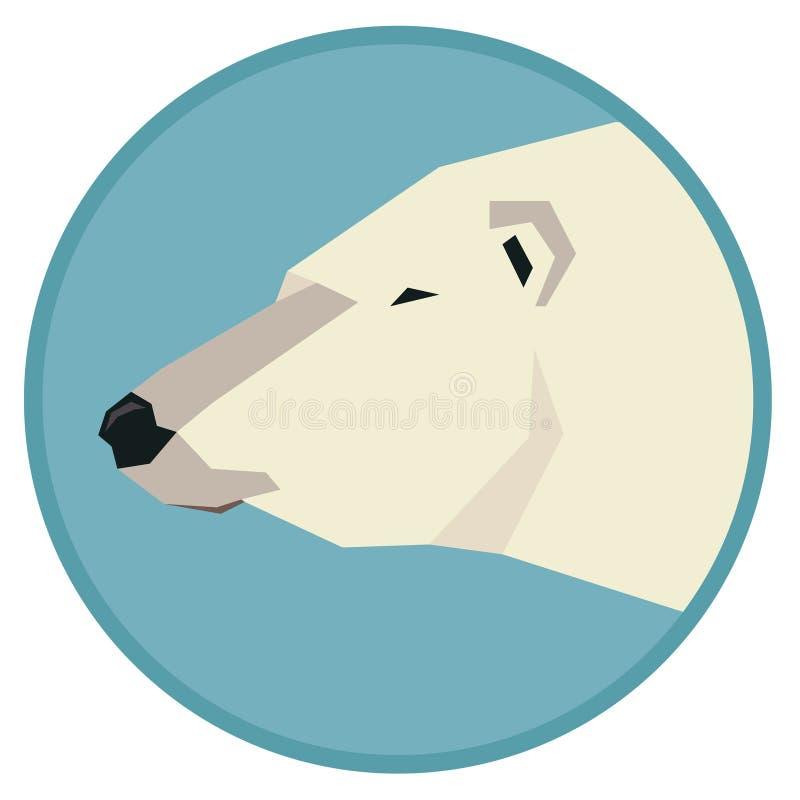 Kopf Sammlung der wilden Tiere der Ikone des Eisbär-geometrischen Stils vektor abbildung
