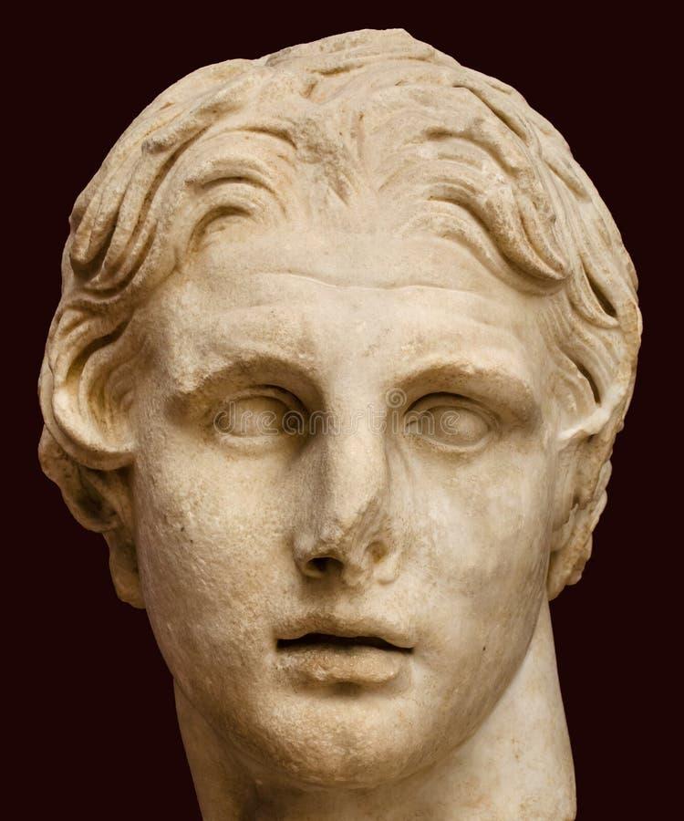 Kopf von Alexander der Große lizenzfreie stockfotografie