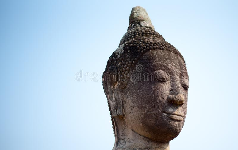 Kopf von Buddha herein bluesly lizenzfreie stockbilder
