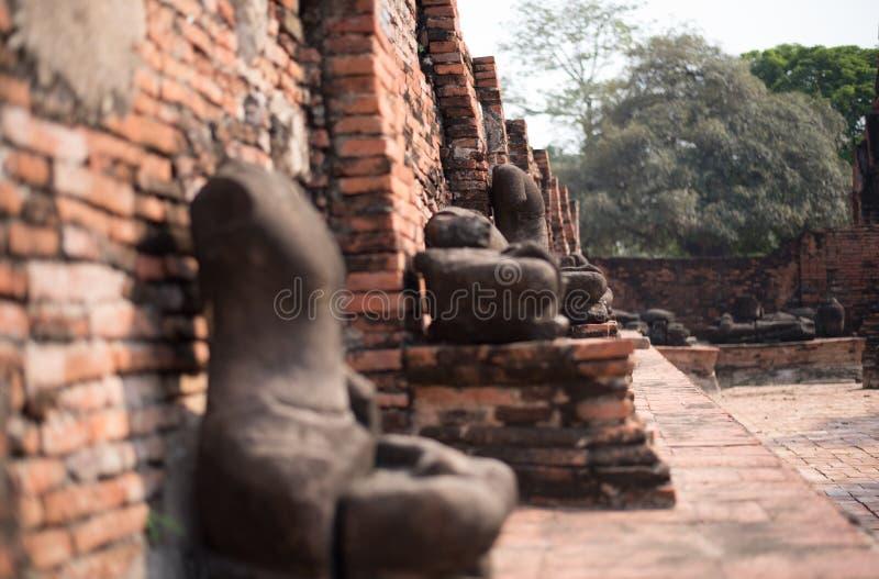 Kopf von Buddha herein bluesly stockfotografie