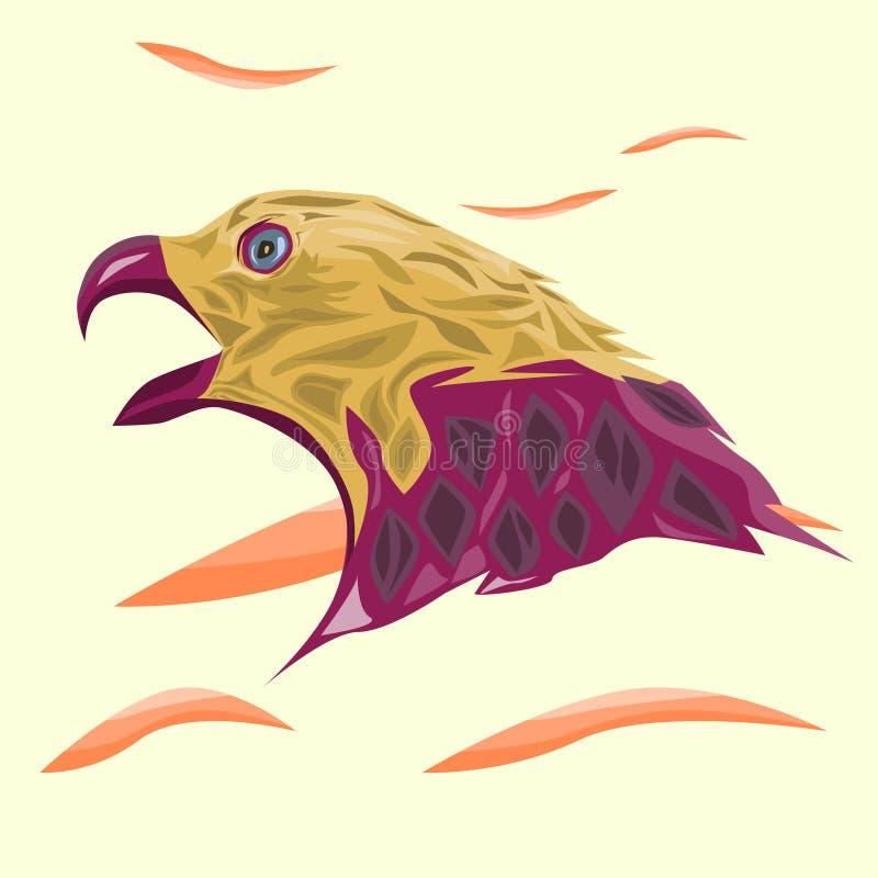 Kopf von Eagle Illustration For Great Design vektor abbildung