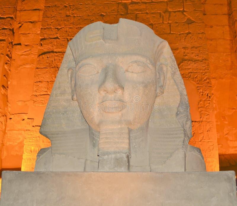 Kopf von Ramses II am Luxor-Tempel lizenzfreie stockfotografie