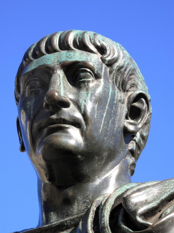 Kopf von Trajan 53-117AD stockfoto
