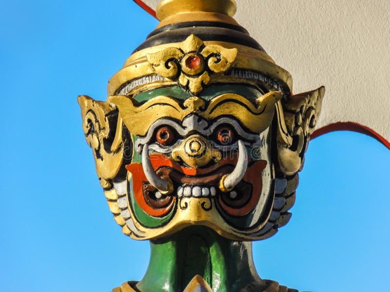 Kopf von Yaksha-Wächter lizenzfreie stockfotos