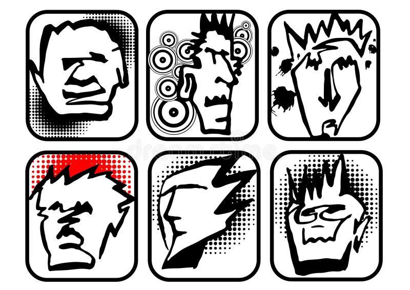 Download Kopf-Zeichen vektor abbildung. Illustration von splatters - 9093718