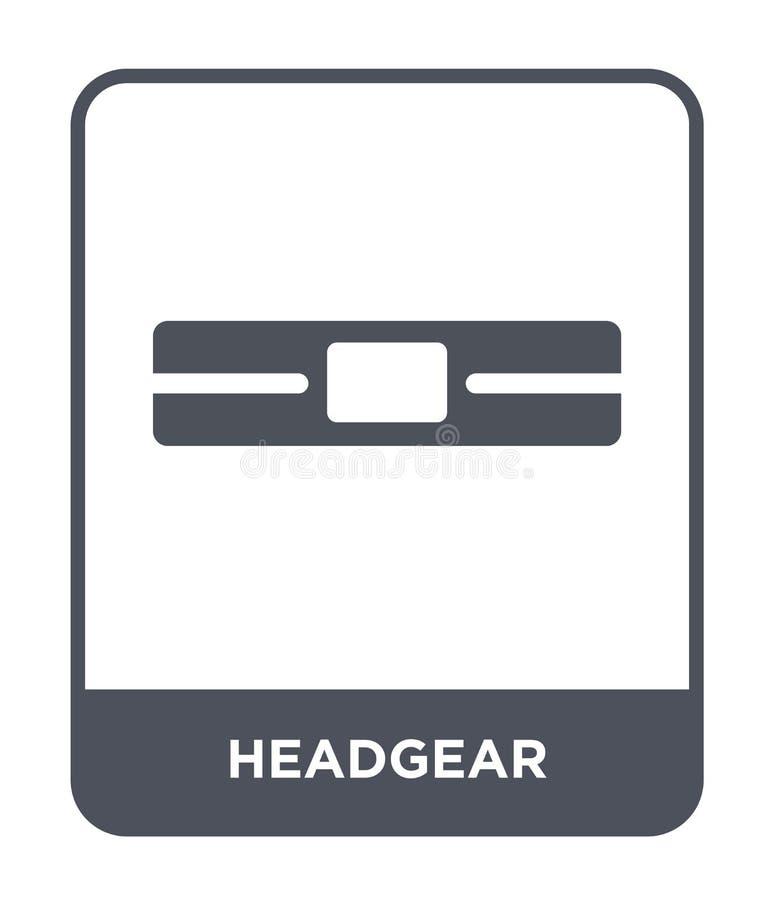 Kopfbedeckungsikone in der modischen Entwurfsart Kopfbedeckungsikone lokalisiert auf weißem Hintergrund einfache und moderne Eben lizenzfreie abbildung